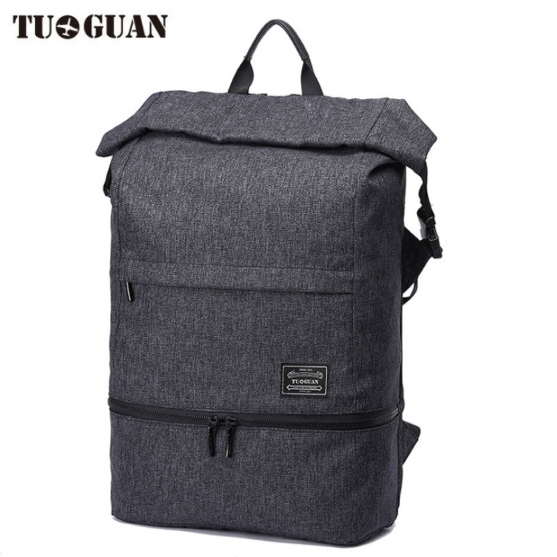TUGUAN 15.6 Inch Laptop Backpack Extended Capacity Men Business Pack Waterproof Anti Theft Fashion Computer Backpack School Bag voyjoy t 530 travel bag backpack men high capacity 15 inch laptop notebook mochila waterproof for school teenagers students