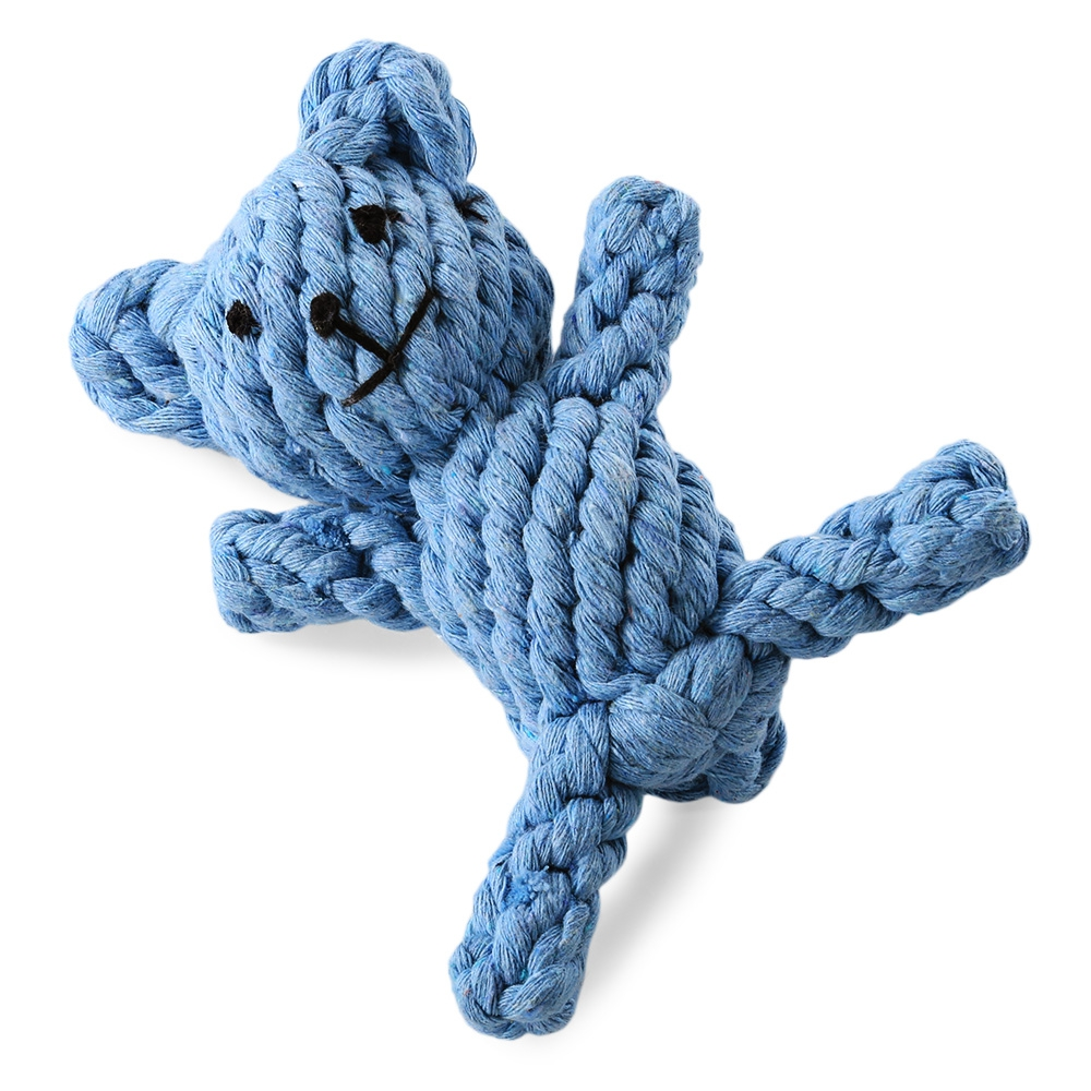 Pet Rope Toy Chew Bear Cotton Knot Teeth Clean for Aggressive Dog