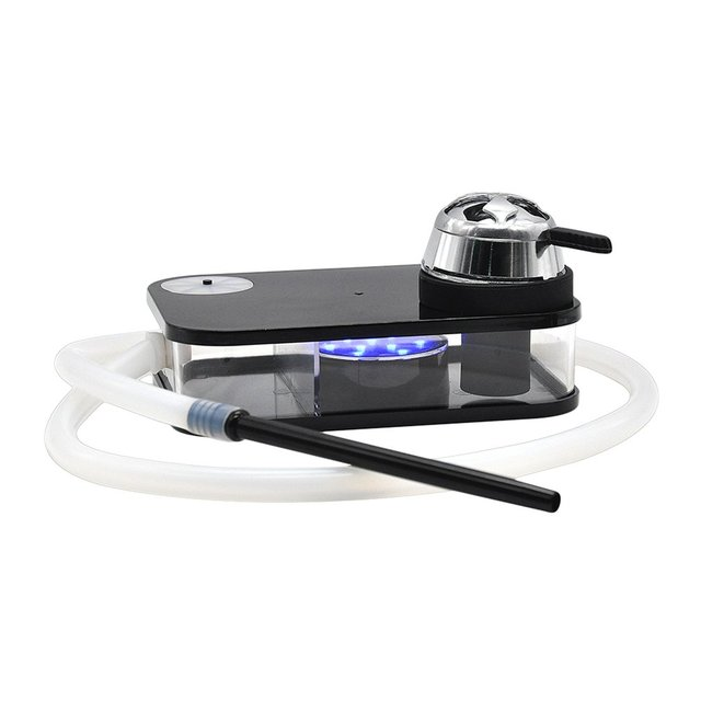 Acrylic Arab Hookah Set With Led Lamp Portable Box Durable heating Control Hookah Shisha Include Shisha Bowl Silicone Pipe Gifts