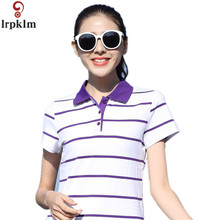 Polo Shirt Ladies 2017 New Design Women Casual Breathable Cotton Students Girls Pure Polo Shirts Plus