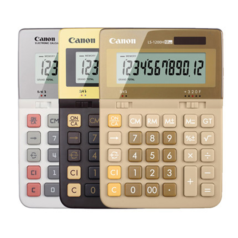 1 Piece Canon LS-1200H genuine monopoly office queen Financial Calculator computer 1 piece canon as 120 genuine curved body design classic 12 big screen calculator authentic free shipping