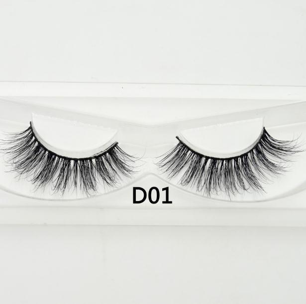 Visofree False eye lashes handmade natural make up False eyelashes glitter packing 1 pair box make up sexy 3D Mink Lashes D01 1
