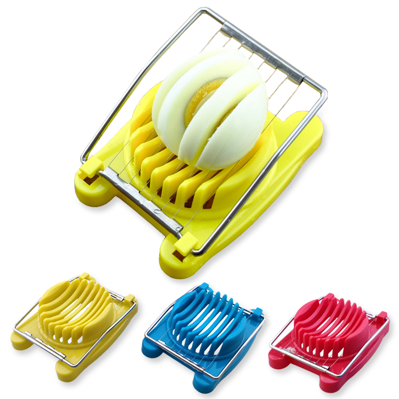 1Pcs Stainless Steel Cut Egg Slicer Sectioner Cutter Mold high quality Multifunction Eggs Splitter Cutter Kitchen Tools 3 colors