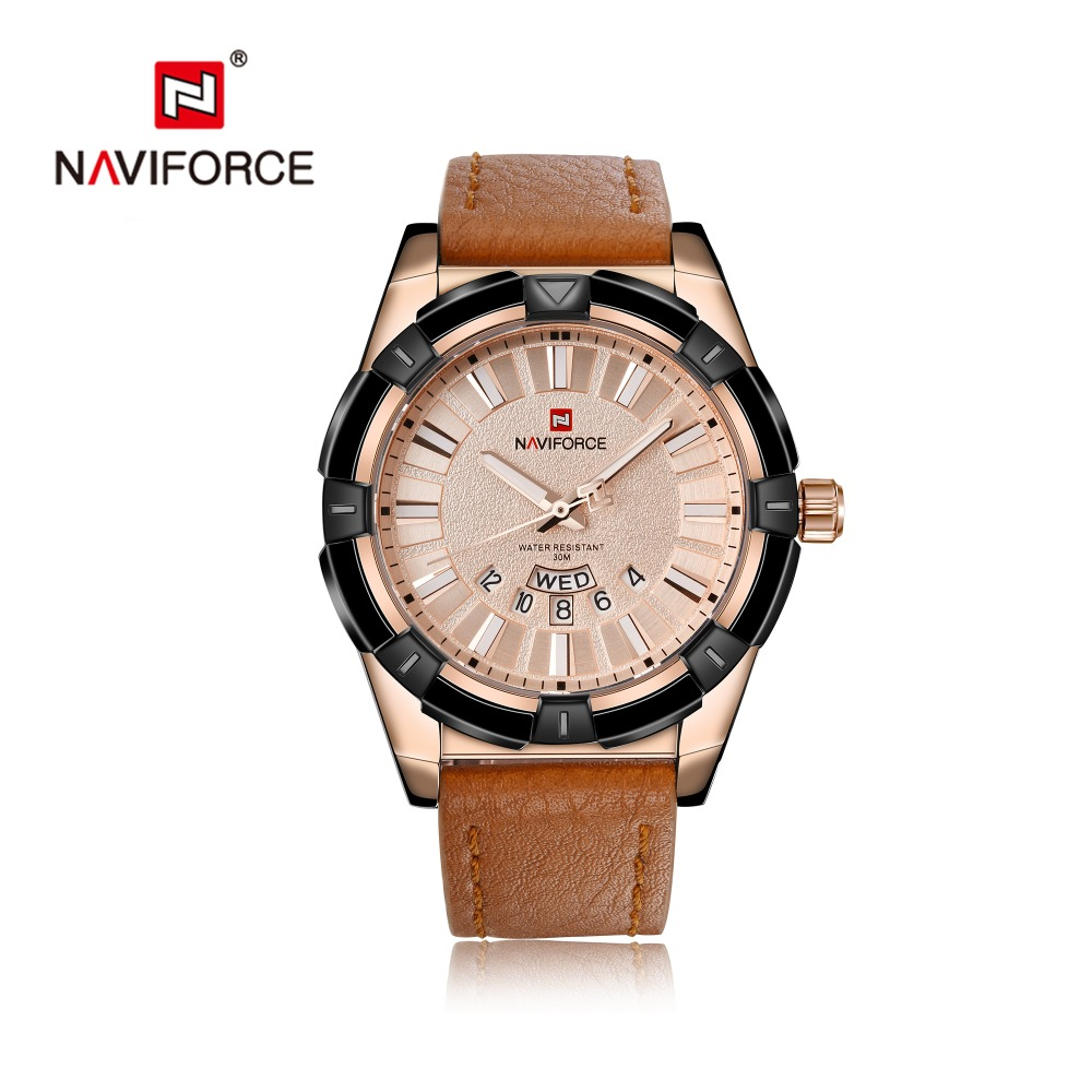 NAVIFORCE Top Luxury Brand Men Fashion Casual Leather Sports Watch Male Quartz Watches Man Date Clock Relogio MasculinoNAVIFORCE Top Luxury Brand Men Fashion Casual Leather Sports Watch Male Quartz Watches Man Date Clock Relogio Masculino