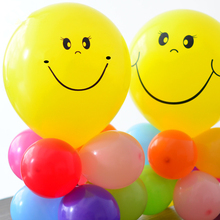 10Pcs 10inch Yellow Smiley Face Balloons Cartoon Inflatable Birthday Home Wedding Decorations Smile Latex Balloon Party Supplies