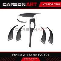 For BMW F20 F21 1 series interior carbon fiber trims s auto parts for bmw F20 F21 1 series 2012 2017 F22 F23 2014 2017 LHD