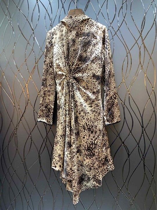 Robe Gamme Avec Haut 226 Femmes 2019 De Des Impression Décolleté Mode Défilé Mince Nouveau Irrégulière qtnxvHWxp