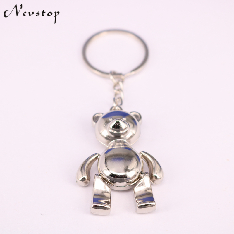 Metal Bear Keychains Alloy Animal Teddy Key Chain For Girl Key Rings Women Handbag Charm Accessory Drop Shipping KC79
