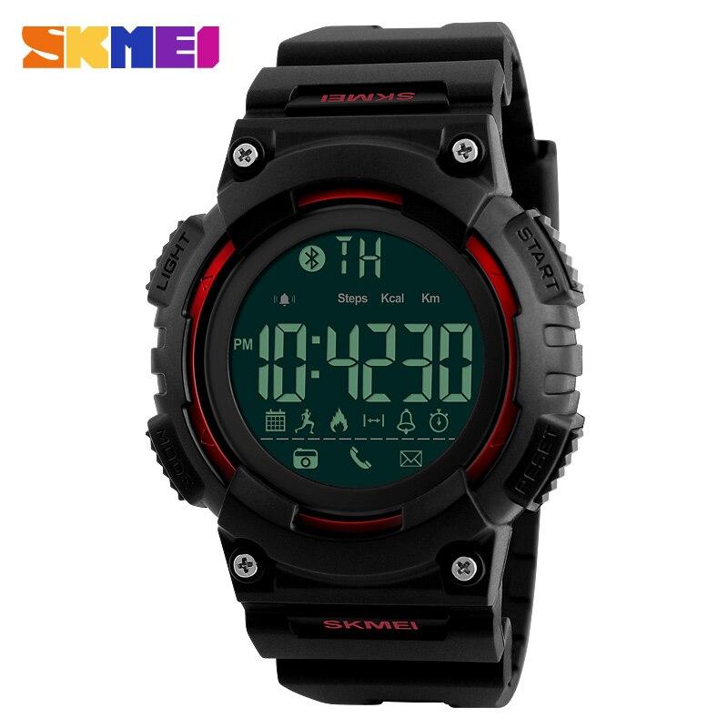 SKMEI Fashion Smart Wrist Watch Men Women Pedometer Calories Remote Camera Sports Watches 50M Waterproof Digital Watch
