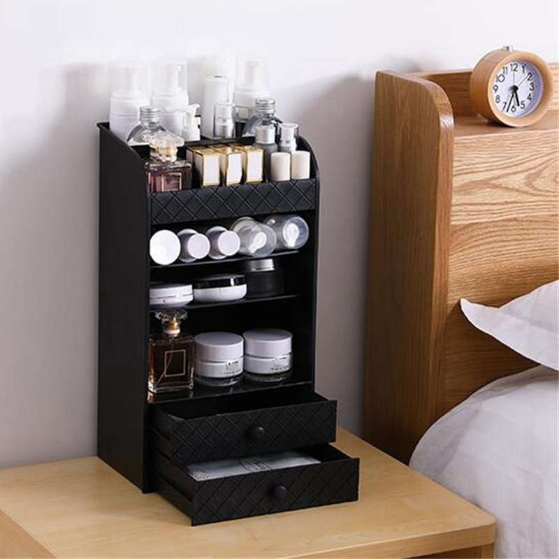 Jewelry Cosmetic Storage Box Small Drawer Organizer Box Multi Functional Desk Sundries Makeup Storage Case Container - 1