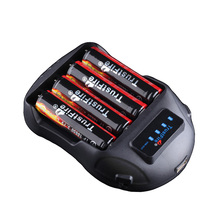 TrustFire TR-009 Digital Smart LED Display Battery Charger + 4 x 18650 3.7V 2400mAh Protected Li-ion with PCB