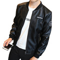 Men Fashion Faux Leather Jacket Spring And Autumn Casual PU Solid Outwear Slim Fit Mens Leather Jackets And Coats Plus Size
