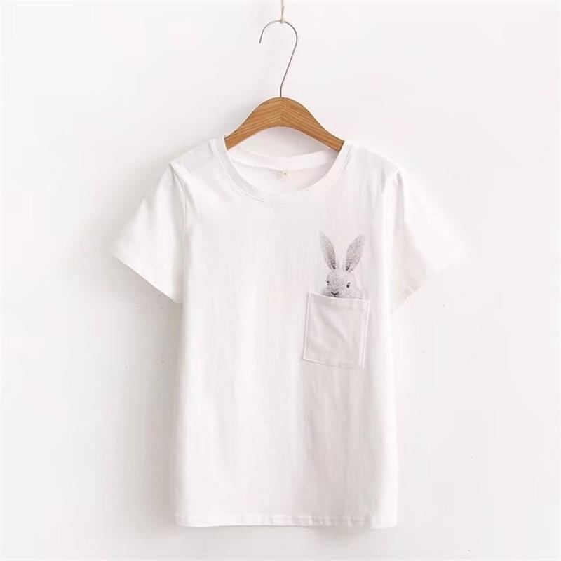 Pocket Rabbit Cute T-shirt 2