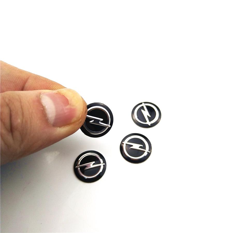 4pcs Car key black logo stickers 14mm case for OPEL Astra H G J Insignia Mokka Zafira Corsa Vectra C D Antara car accessories audew 18 led license number plate light for vauxhall opel corsa c d astra h insignia