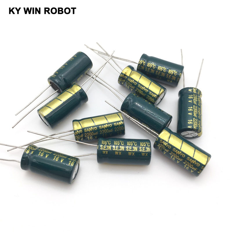 16V 2200UF 10*20 High Frequency Low Impedance Aluminum Electrolytic Capacitor 2200uf 16v
