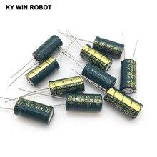 16V 2200UF 10*20 yüksek frekanslı düşük empedanslı alüminyum elektrolitik kondansatör 2200uf 16v