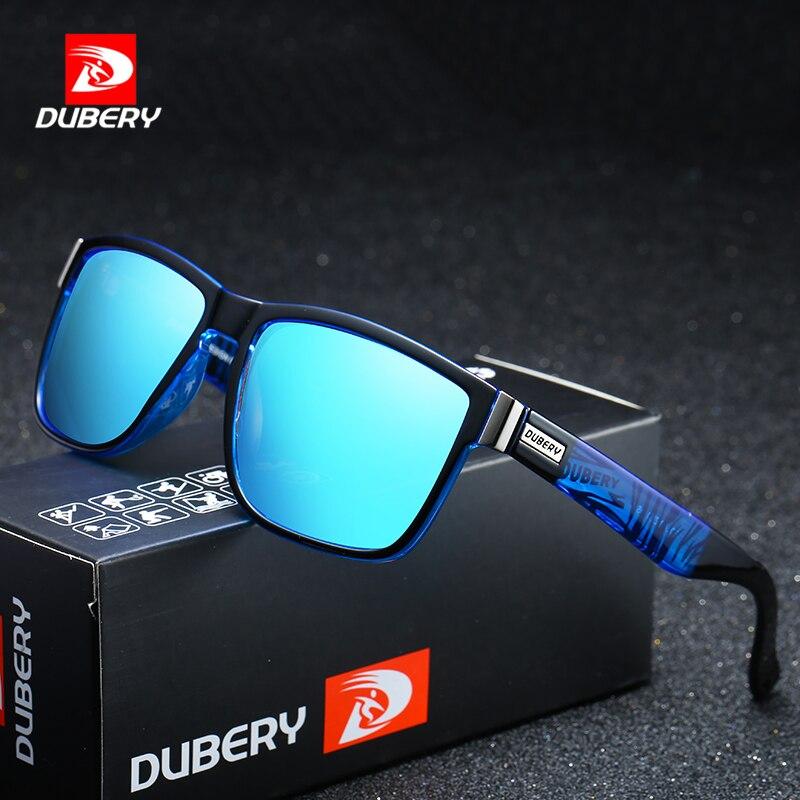 DUBERY Tons de Design Da Marca Óculos Polarizados Homens Motorista do Sexo Masculino Óculos de Sol Do Vintage Para Homens Espelho Spuare Verão UV400 Oculos