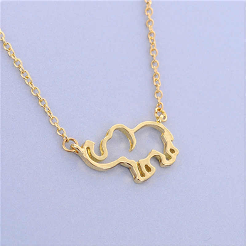 2019 Collier Femme Stainless Steel Gold Chain Origami Elephant Pendant Necklaces For Women Jewelry Collares Largos De Moda