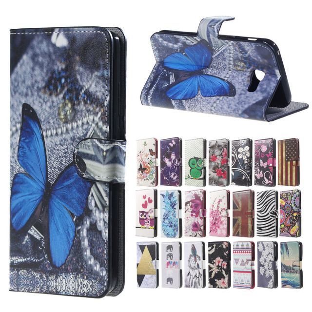 funda for Galaxy A3 2017 case Wallet cartoon Leather cover Case For Flip Samsung Galaxy A3 2017 A320 A320F SM-A320F phone cases
