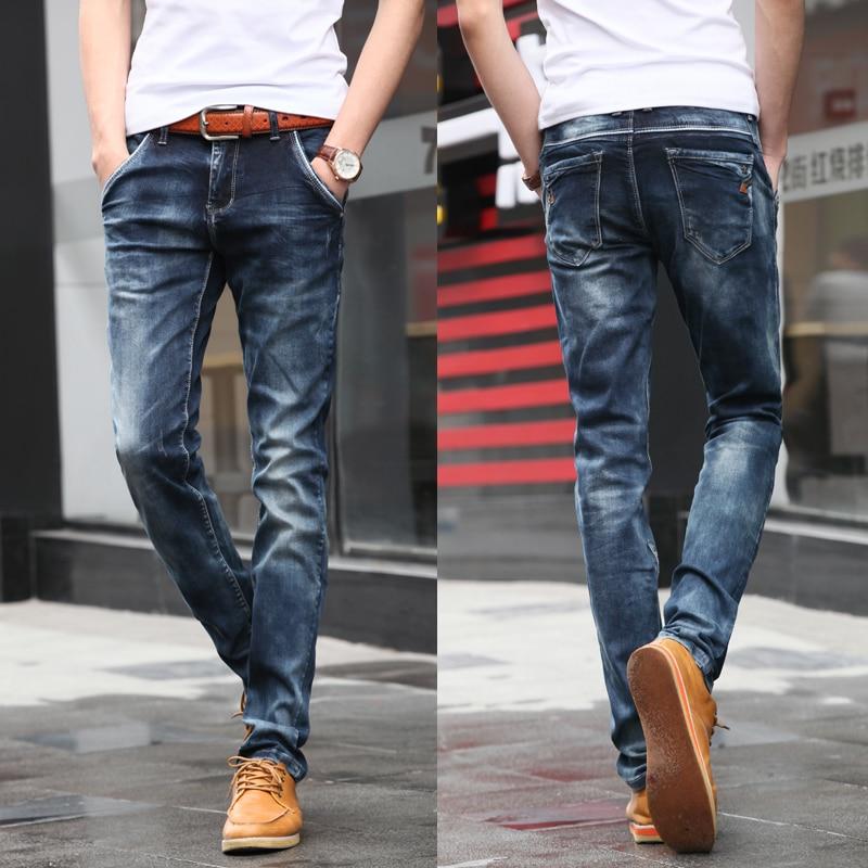 Noua moda!!! Casual Jeans bărbați pantaloni lungi Slim bumbac - Imbracaminte barbati