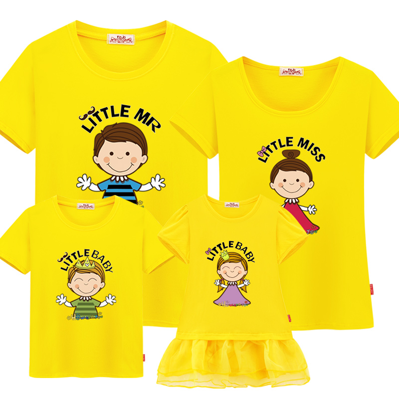 Family Matching Clothes 100 Cotton Short Sleeve T Shirts