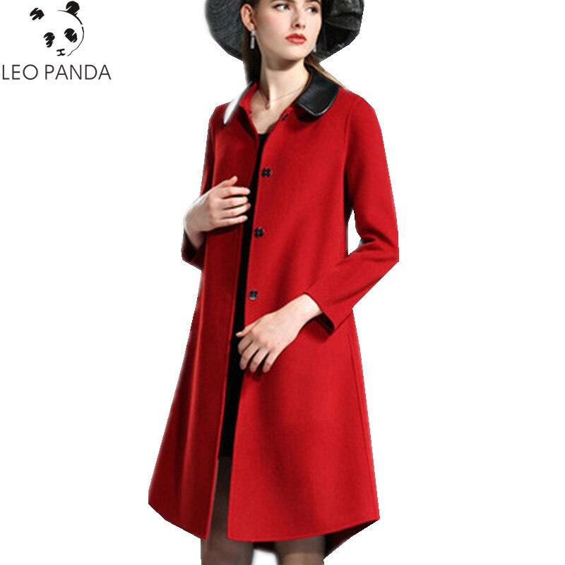100% Vero Autunno Inverno 2019 Nuove Donne A-line Manualmente Due-sided Cappotto Di Lana Allentato Button Coperto Cappotto Di Tweed Moda Femminile Cappotto Zx373