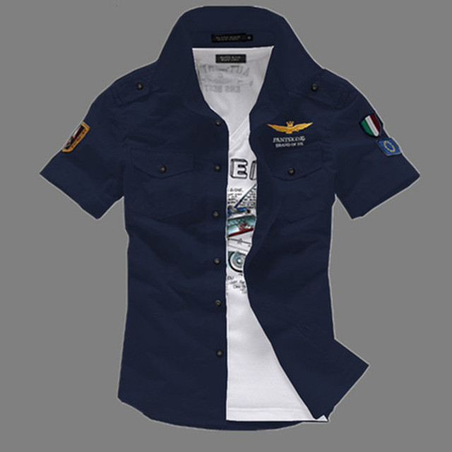 Airforce uniform military short sleeve shirts  3
