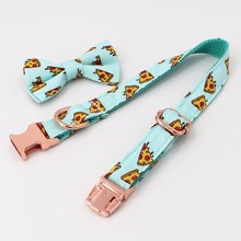 Pizza Pattern Dog Collar, Bow Tie And Leash