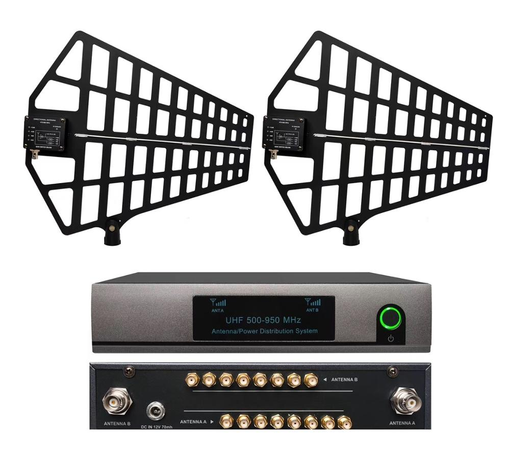 8 Channel Antenna Distribution System Antenna Splitter support 8 Sets Receivers 500 950Mhz for uhf wireless