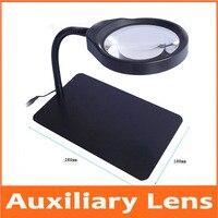 10X 3X 5X 8X 36pcs LED Lamps Desktop Illuminated Reading Dest Stand Foldable Magnifier Repair Desk Lamp Table Magnifying Glass