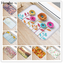Хунбо новые творческие коврики моющиеся Красивые Цветочные ковры коврики Спальня Нескользящие Коврики для ванной комнаты для Гостиная