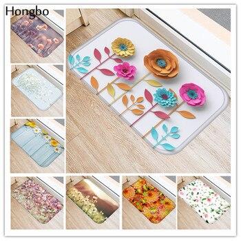 цена на Hongbo New Creative Rugs Washable Beautiful Flower Floral Carpet Mats Bedroom Non-Slip Floor Mats Area Rug for Living Room