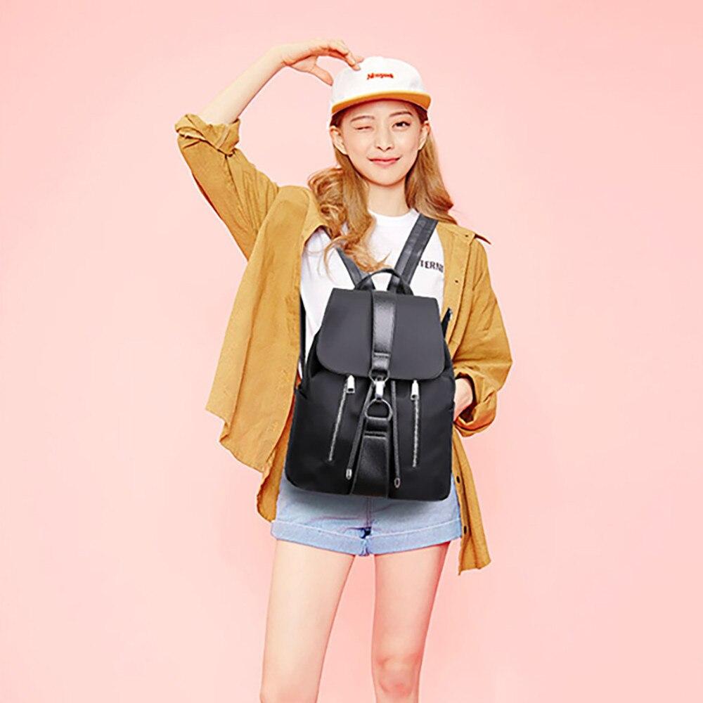 2018 Frauen Rucksack Pu Leder Tasche Für College Einfache Kordel Mode Haken Mode Rucksack Daypacks Mochila Weibliche Mochila