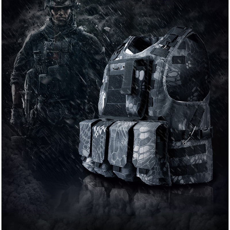 2019 Camouflage Hunting Military Molle Combat Tactical Vest Body Molle Armor CS Outdoor Jungle Hunting Game