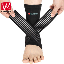 CAMEWIN Ankle Support Adjustable High Elastic Bandage Compression Knitting Sports Protector Basketball Soccer Ankle Protector