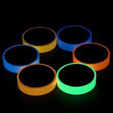 Светоотражающий светящийся лента самоклеящаяся Стикеры съемный светящаяся лента Флуоресцентные светящиеся темно ярких Предупреждение на Клейкой Ленте, 20 мм x 3 м
