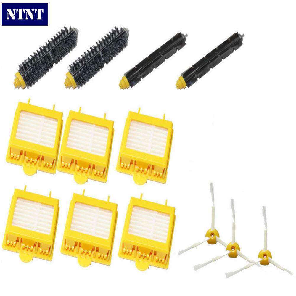 NTNT Side Brush 3 armed Hepa Filter Clean Replacement Tool Kit Fit for iRobot Roomba 700 Series 760 770 780 790 3pc brush replacement mini kit 6 armed for irobot roomba 500 series free shipping