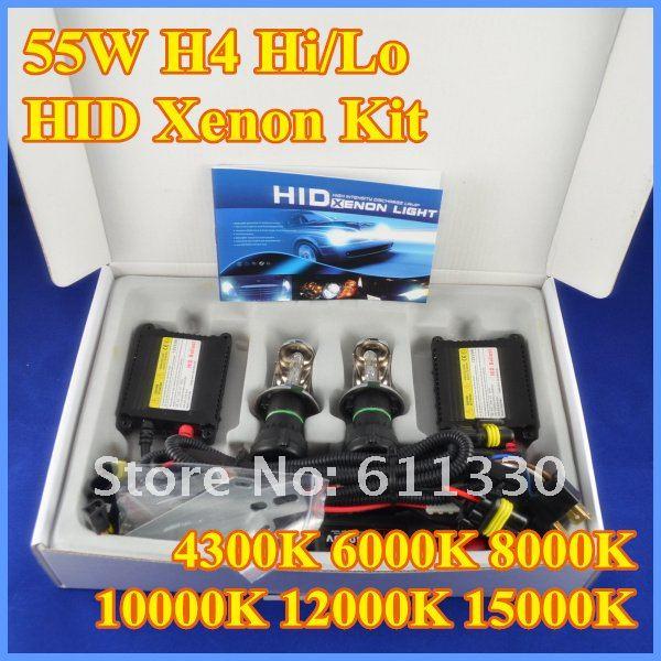 2016 New 55w h4-3 HIGH LOW BEAM HID XENON KIT bixenon kit hid 4300K, 6000K, 8000K, 10000K,12000K hid kit 2016 new version койнония 55 2016