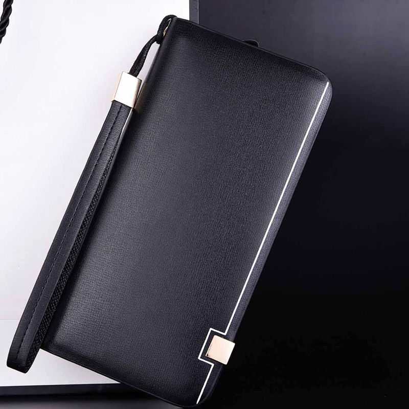 2019 Men Wallet Brand Famous Man Leather Long Clutch Wallets Male Billfold Money Purse Business Fashion Credit Cards Holder