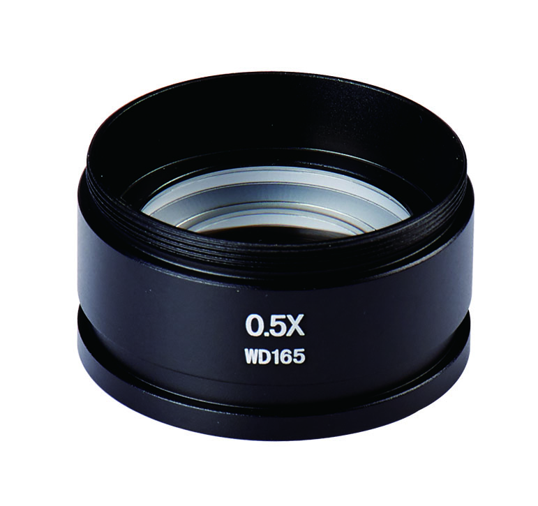 Best CE ,ISO , 0 5x barlow lens/ 0 5x objective WD165mm for SZM ZOOM Stereo  Microscope aux lens , ballow lens