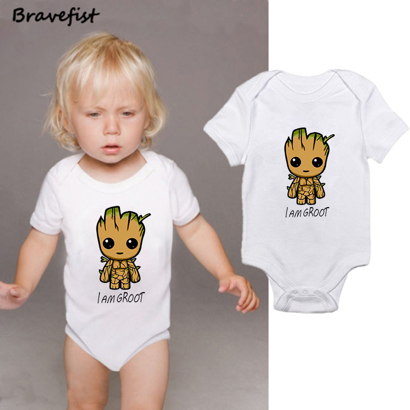 Cartoon <font><b>Baby</b></font> Bodysuit Infant Jumpsuit Overall Short Sleeve <font><b>Body</b></font> Suit <font><b>Baby</b></font> Clothing Set Summer Cotton I AM Letters Outwear image