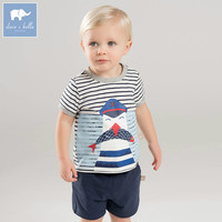 DBA6386 dave bella summer baby boy's clothing sets children infant toddler suit kid's high quality clothes