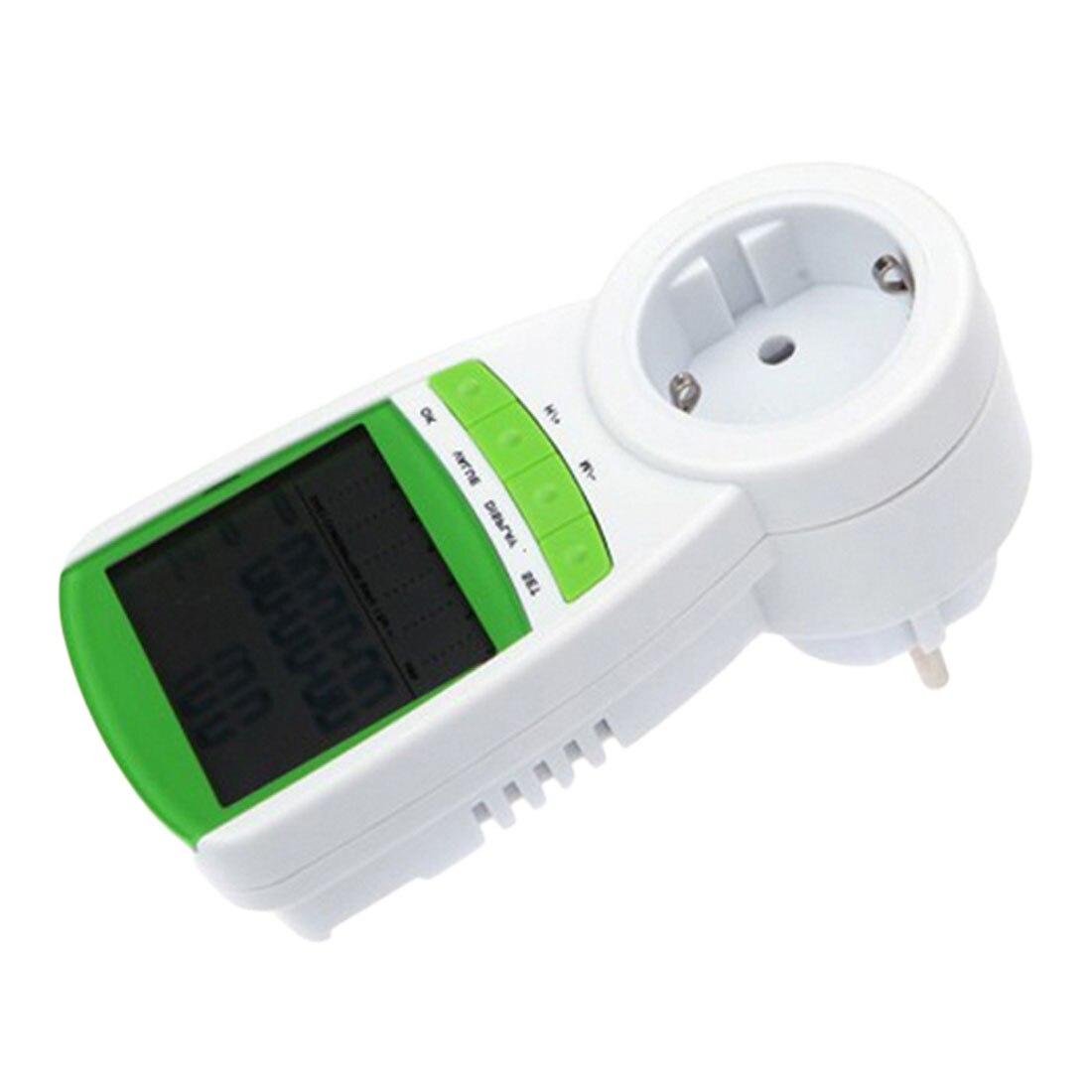 Wattmetro digitale Voltmetro Portatile Misuratore di Potenza 230 v A CRISTALLI LIQUIDI Digital Potenza Tensione Corrente Frequenza Monitor Analyzer Spina di UE