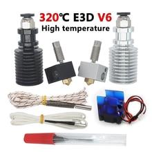 E3D V6 Hotend Комплект Высокая температура версии 300 градусов Цельсия J-head 3D-принтеры Запчасти 0,4/1,75 мм дистанционный экструдер 12 V 24 V