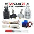 E3D V6 Hotend Kit alta temperatura Versión 300 grados Celsius j-head 3D impresora partes 0,4/1,75 MM extrusor remoto 12V 24V