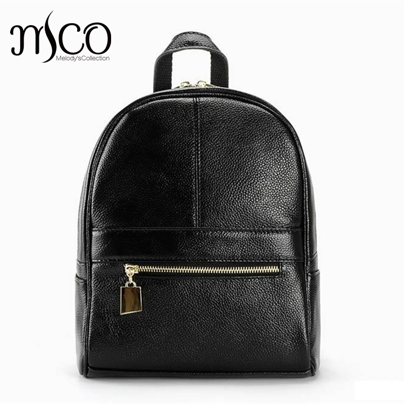 Women Backpack Genuine Leather School Bags For Girls Small Shoulder Bag Fashion Casual Skin backpacks teenage Travel Bag Mochila women backpacks fashion pu leather shoulder bag small backpack women embroidery dragonfly floral school bags for girls