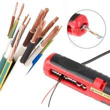 Herramienta de desmontaje de cables multifuncional cortador de desmontaje de cables de electricista, pelador de cables manual, 1 unidad