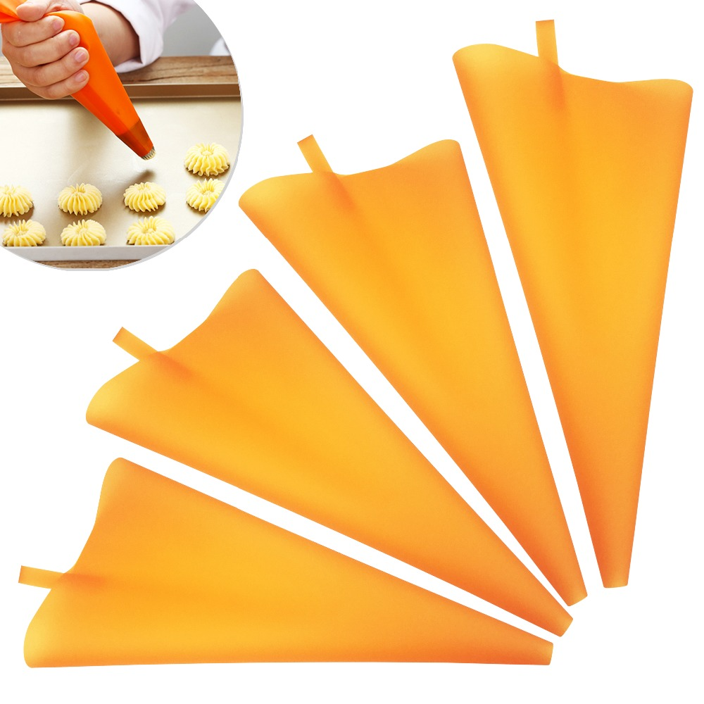 VOGVIGO Reusable Silicone Pastry Bag Piping Cake Decorating Tools DIY Cupcake New Pastry Bags Kitchen Cakes Pastry Supplies