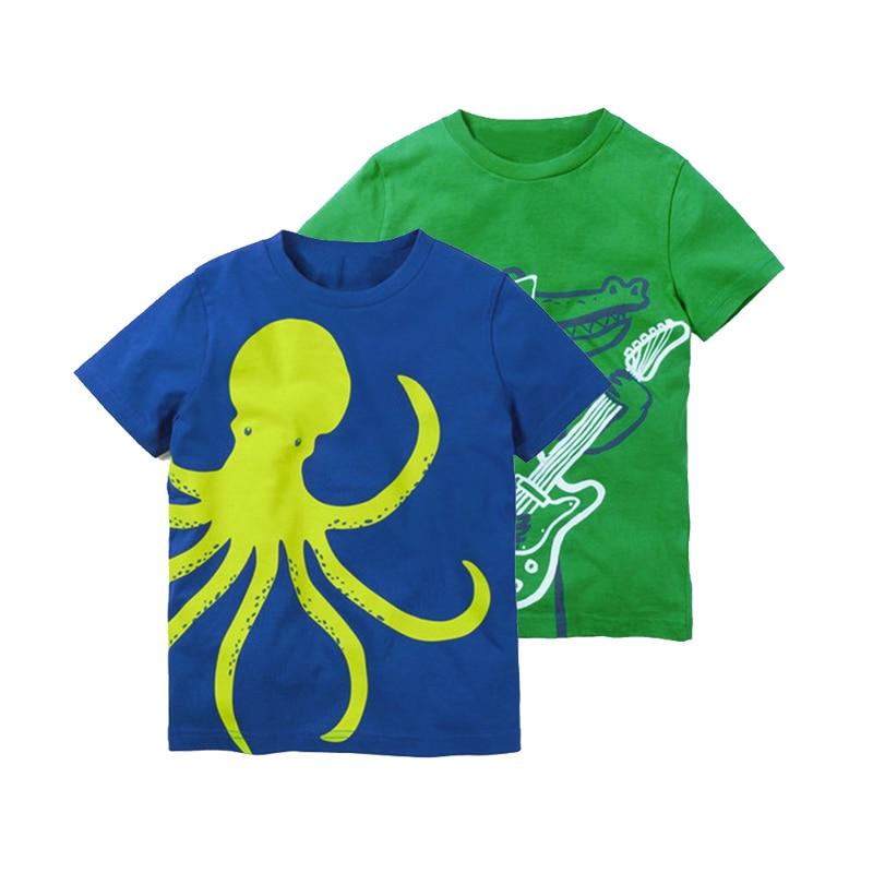 Children T-shirt For Boys Girls Clothes 2018 Summer Short Sleeve Tops Tee Animal Print Kids T Shirts Casul Boy Clothing