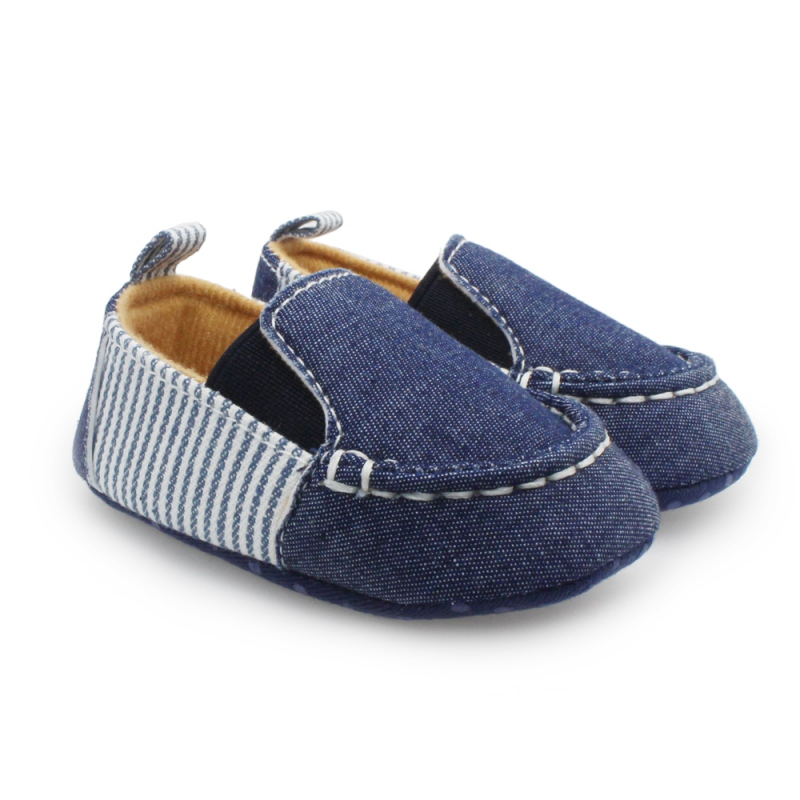 New Born Baby Boy Girl Shoes Autumn Summer Casual Denim Striped Shoes Toddlers Boys Girls First Walkers Infant Baby Shoes 0-12M